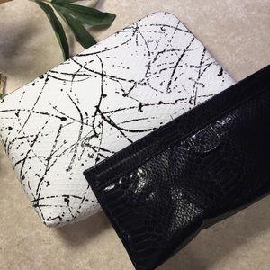 Bundle 2 Estée Lauder cosmetic makeup case spatter
